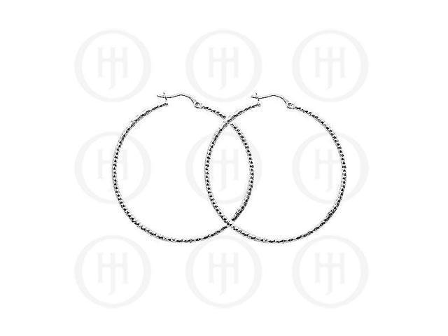 Sterling Silver D/C Hoop 40mm