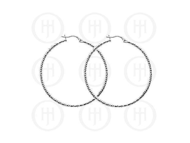 Sterling Silver D/C Hoop 50mm