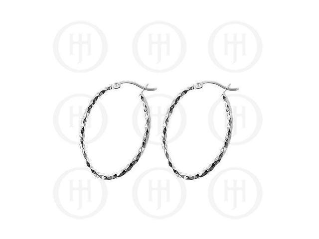 Sterling Sterling Silver D/C Hoop