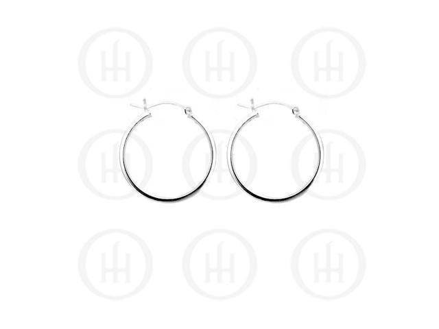 Sterling Silver Hoop 25 x 2mm Square