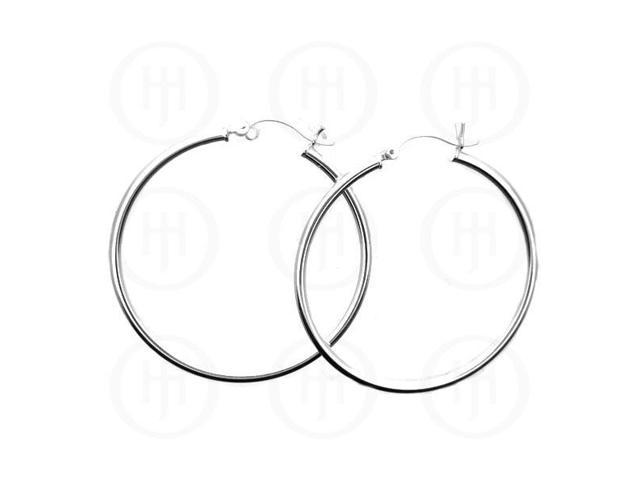 Sterling Silver Hoop 50mm x 4mm