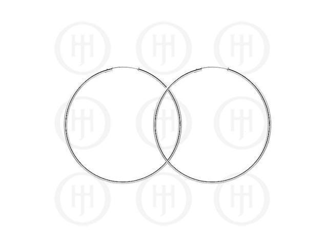Sterling Silver Hoop 60mm x 2.25mm