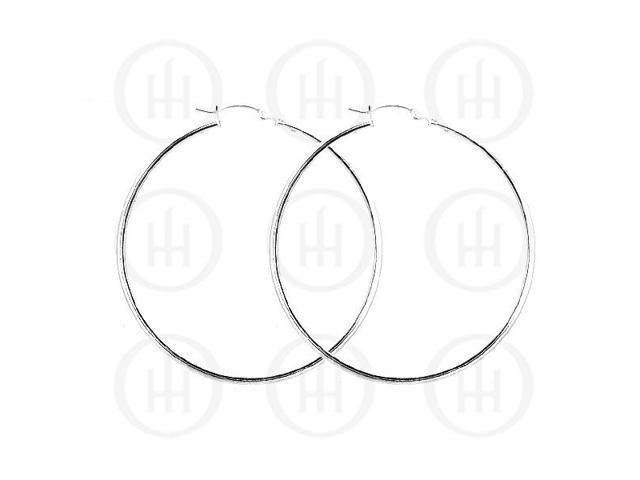 Sterling Silver Hoop 60mm x 2mm square
