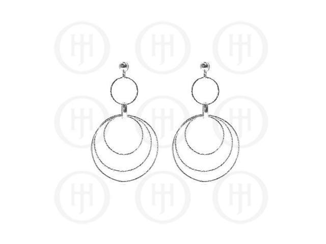 Sterling Silver Rhodium Plated Dangle Earrings