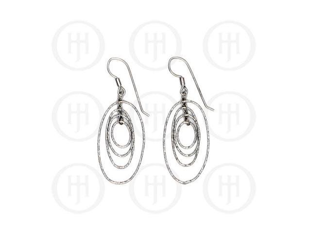 Sterling Silver Rhodium Plated Dangle Earrings