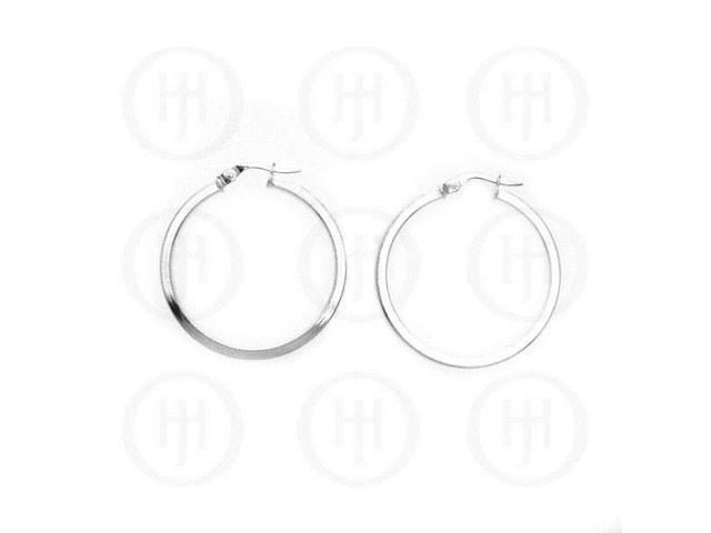 Sterling Silver Italian Hoop 35mm
