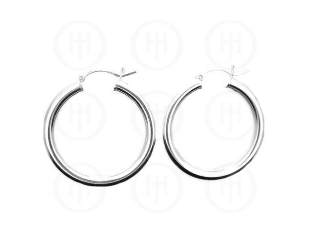 Sterling Silver Hoop 34.5mm x 4mm