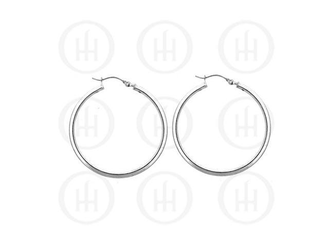 Sterling Silver Hoop 35 x 2mm Square