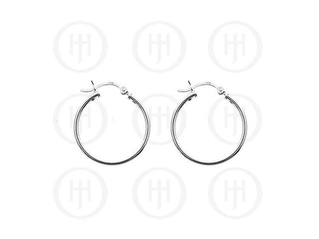 Sterling Silver Hoop 35mm x 2mm