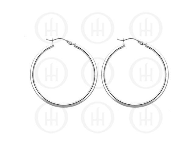 Sterling Silver Hoop 40 x 2mm Square