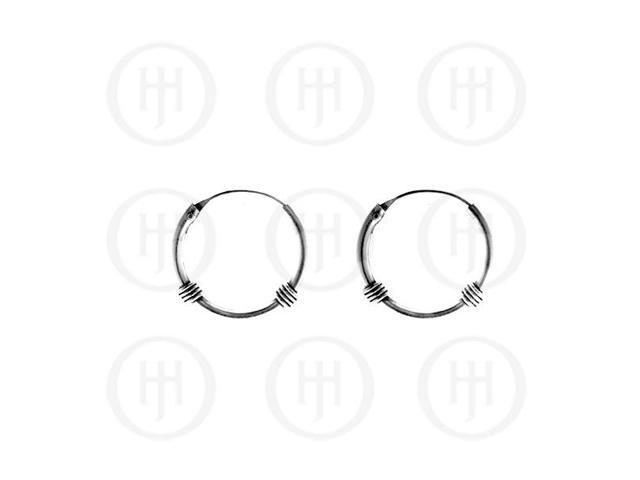 Sterling Silver Bali Hoop 14mm