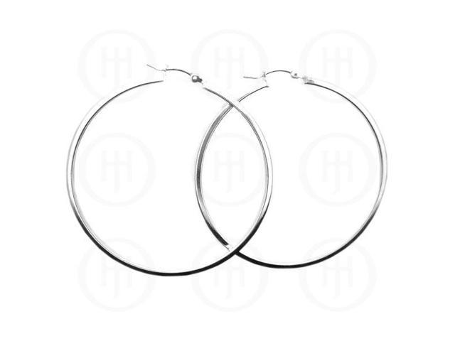 Sterling Silver Hoop 45 x 2mm Square