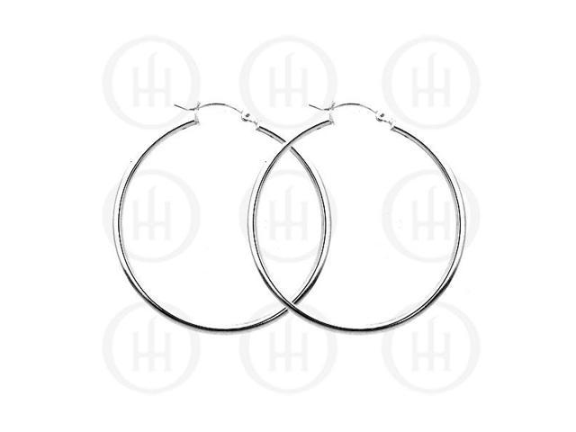 Sterling Silver Hoop 50 x 2mm Square