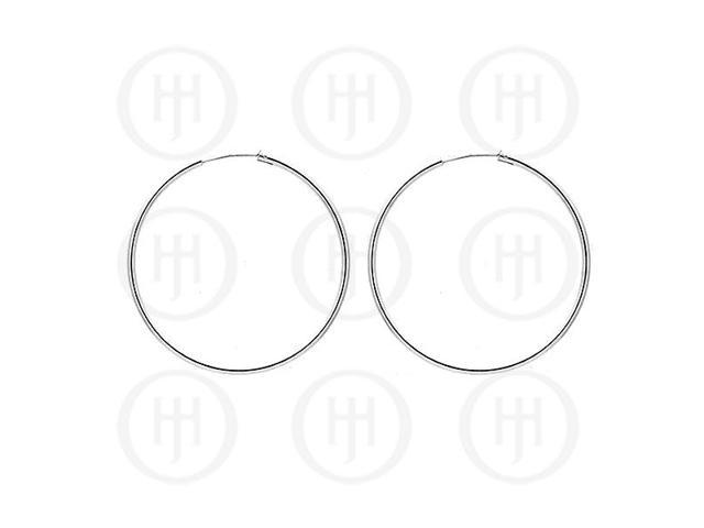 Sterling Silver Hoop 50mm x 2.25mm