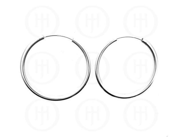 Sterling Silver Sleeper Hoop 40mm x 1.25mm
