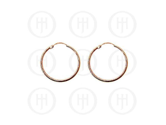 Sterling Silver Rose Hoops