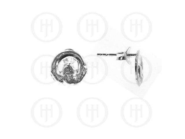 Sterling Silver Stud Claddagh Earrings