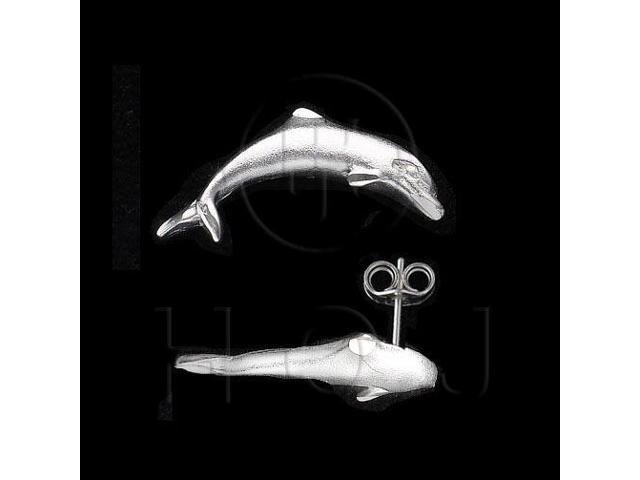 Sterling Silver Stud Earrings Dolphin
