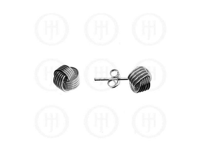 Sterling Silver Stud Knot Earrings 7mm