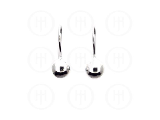 Sterling Silver French Wire Ball Earrings 8mm