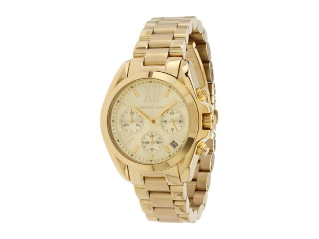Michael Kors Bradshaw Chronograph Champagne Dial Gold-tone Ladies Watch MK5798