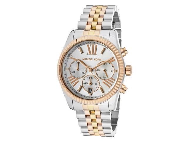 Michael Kors Lexington Chronograph Tri-Tone Ladies Watch MK5735