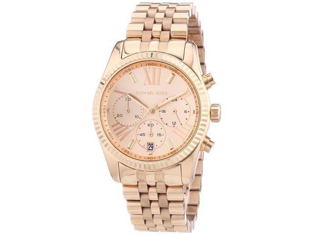 Michael Kors Lexington Chronograph Rose Gold PVD Ladies Watch MK5569