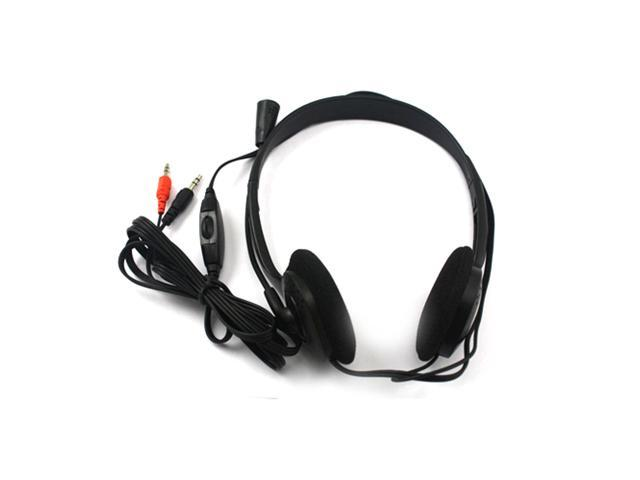 New Microphone Headphone Headset MSN Skype Talk Black For Laptop/Notebook PC