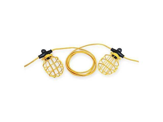 Lumapro Incandescent Yellow/Black Temporary String Light, 6YF73 - Newegg.com