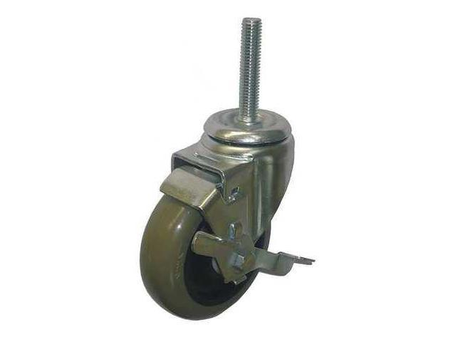 20TM26 Swivel Stem Caster, 4in dia, 275 lb, Polyur