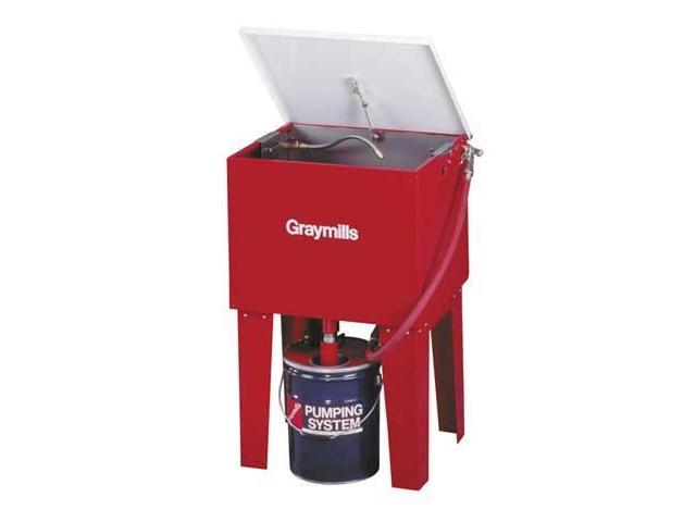GRAYMILLS H42RN Parts Washer, Solvent, 5 Gal, Length 24 In