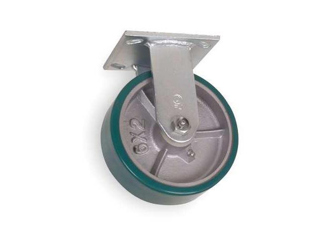 1NWK4 Rigid Plate Caster,1230 lb,6 In Dia