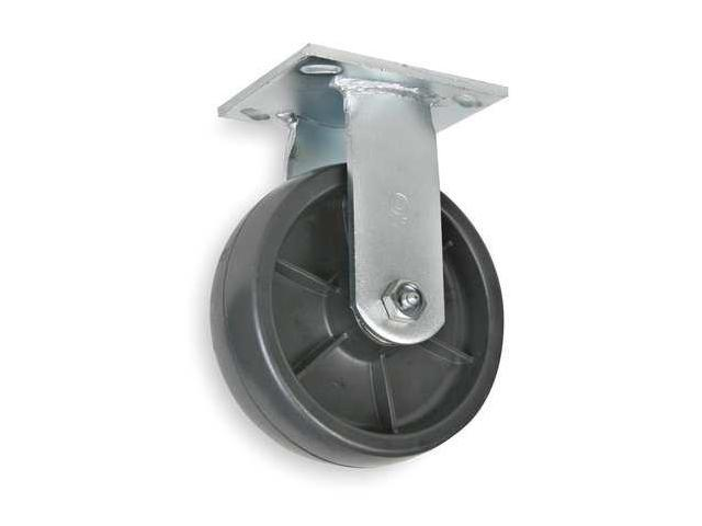 1NWN6 Rigid Plate Caster, 1200 lb, 6 In Dia
