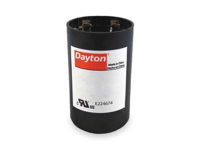 Dayton 2mdt3 motor start capacitor 270 324 mfd round for Dayton capacitor start motor