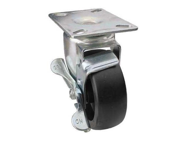 Swivel Plate Caster w/Brake,350 lb,Plate Type A, DCIB05041S014G