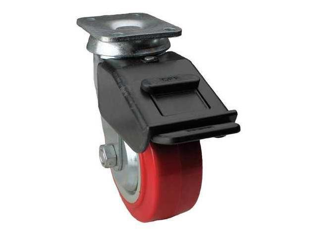Swivel Plate Caster w/4-Position Directional Lock,650 lb, 08IX05201S004G