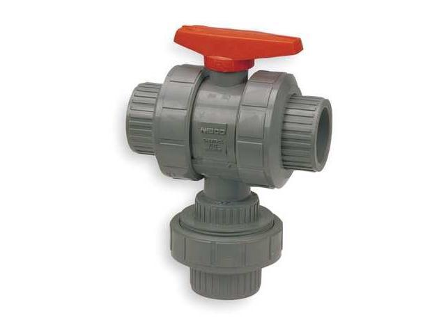 Chemtrol s m e cpvc ball valve way union socket