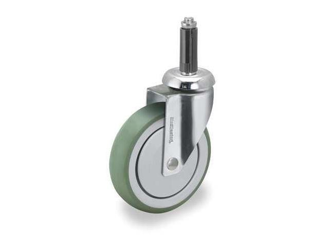 MEDCASTER SS03AMP125SWXRN2G Swivel Stem Caster, 3 In, 165 lb, TPR