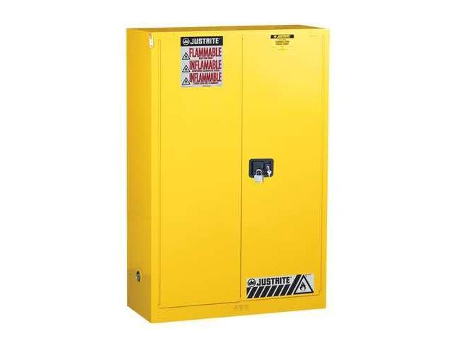 Flammable Liquid Safety Cabinet, Yellow ,Justrite, 896080