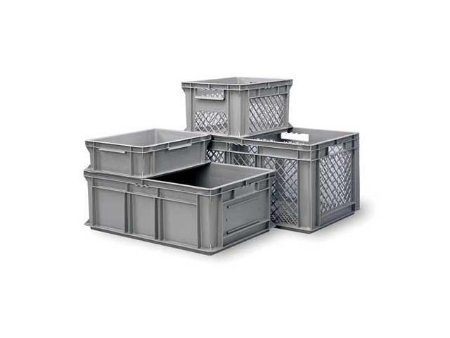Beautiful Solid Wall Stacking Container, Gray ,Ssi Schaefer, EF4120.GY1