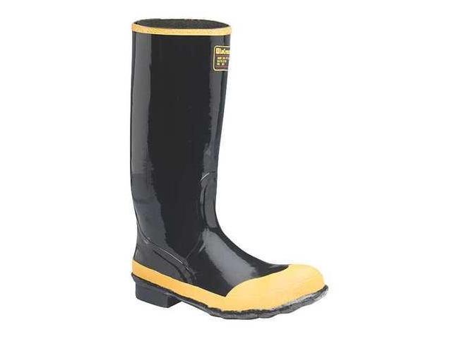 size 10 rubber boots s black steel toe lacrosse