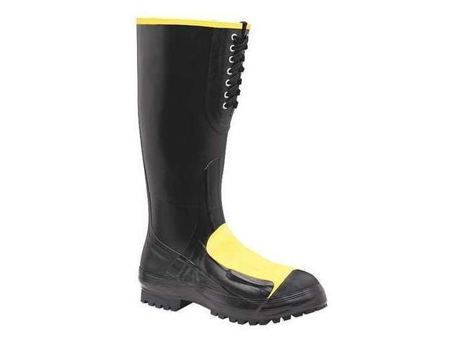 size 12 rubber boots s black steel toe lacrosse