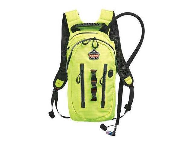 ERGODYNE 5157 Hydration Pack, 70 oz./2L, Hi-Vis Lime