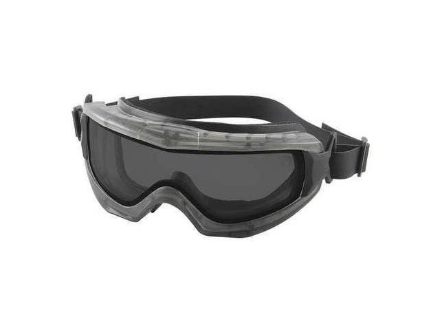 BOUTON OPTICAL 251-65-0021-RHB Dual Lens Goggles, Gray, Neoprene, Rubber