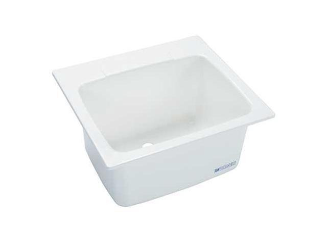 MUSTEE 10 Utility Sink, Fiberglass, Drop In, White-Newegg.com