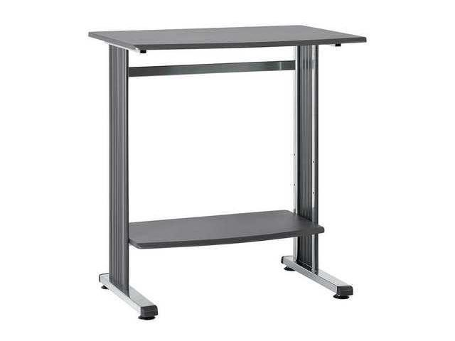 BUDDY PRODUCTS 6461-36 Computer Workstation, Wood/Tubing, Blk