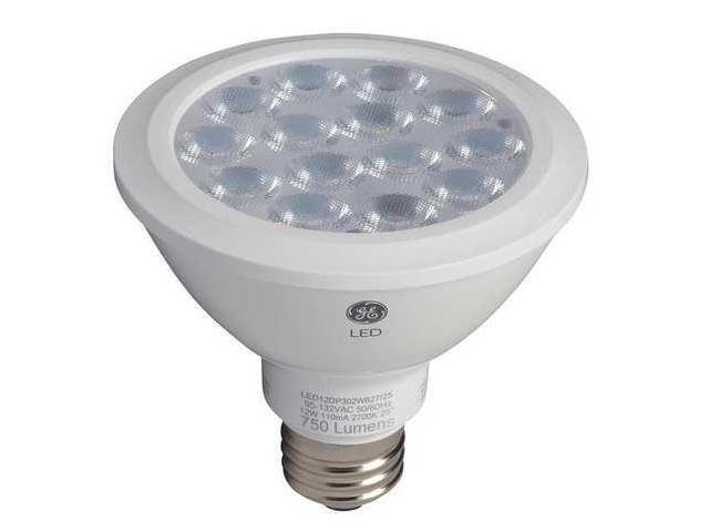 GE LIGHTING LED12DP30RW83025 LED Lamp, PAR30, 12W, 3000K, 25deg., E26 G1802985