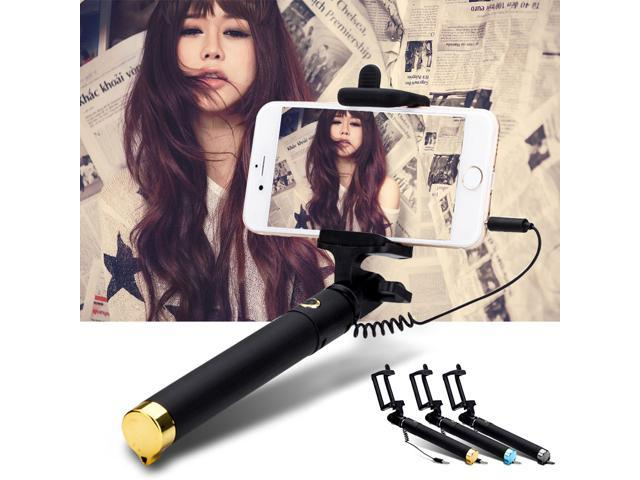 extendble wired selfie stick monopod camera selfie acc for iphone 6 plus 5s wired selfie stick. Black Bedroom Furniture Sets. Home Design Ideas