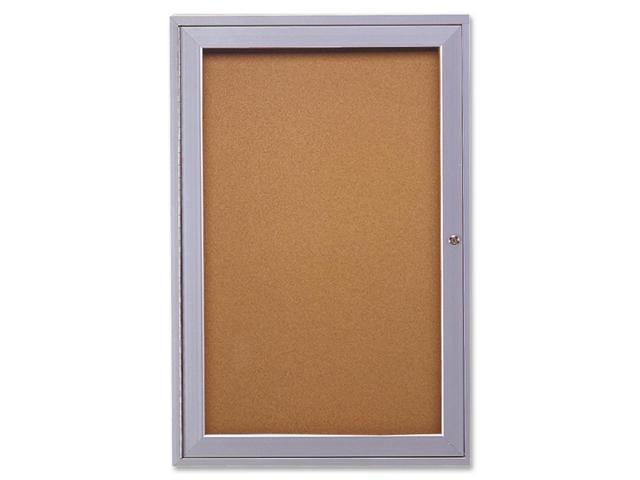 Ghent Pa13624k Enclosed Bulletin Board, Cork, 36X24 In.