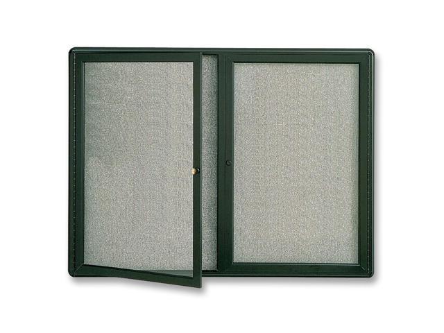 Quartet Enclosed Fabric-Covered Bulletin Board